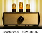 old tube pre amplifier for... | Shutterstock . vector #1025389807