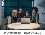 shot of a group of coworkers... | Shutterstock . vector #1025391673