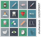 medical flat icons. file is in... | Shutterstock .eps vector #1025395057