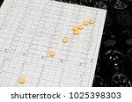 electrocardiogram graph  ecg  ...   Shutterstock . vector #1025398303