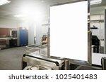 blank advertising billboard at... | Shutterstock . vector #1025401483