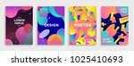 modern abstract covers set.... | Shutterstock .eps vector #1025410693