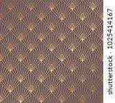 art deco pattern. seamless... | Shutterstock .eps vector #1025414167
