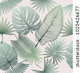 seamless pattern with tropical...   Shutterstock .eps vector #1025426677
