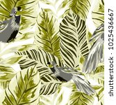 tropical seamless pattern with... | Shutterstock .eps vector #1025436667