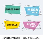flat linear promotion ribbon... | Shutterstock .eps vector #1025438623