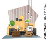 moving home concept background... | Shutterstock .eps vector #1025444263