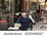 dissatisfied man losing at...   Shutterstock . vector #1025448367