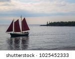 sail boat sailboat three sails... | Shutterstock . vector #1025452333