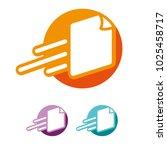 flat modern quick fast paper...   Shutterstock .eps vector #1025458717