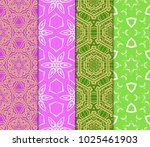 colorful decorative pattern set ... | Shutterstock .eps vector #1025461903