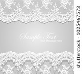 vector white lace frame template | Shutterstock .eps vector #1025467573
