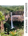 huge waterfall at chapada dos... | Shutterstock . vector #1025468203
