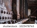 close up macro of railroad... | Shutterstock . vector #1025478763