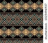 tribal art pattern. ethnic... | Shutterstock .eps vector #1025496937