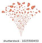 ambulance car exploding... | Shutterstock .eps vector #1025500453