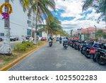 isla mujeres   january 10  2018 ... | Shutterstock . vector #1025502283