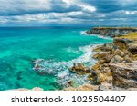beautiful view of rocky cliff... | Shutterstock . vector #1025504407