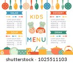 kids menu template | Shutterstock . vector #1025511103