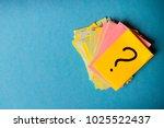 question marks written... | Shutterstock . vector #1025522437