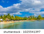 cancun  mexico   january 10 ... | Shutterstock . vector #1025541397