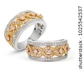 diamonds wedding eternity band... | Shutterstock . vector #1025542537