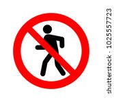 no walking sign vector icon.   Shutterstock .eps vector #1025557723