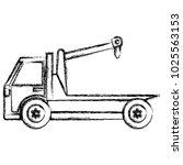 crane truck service icon | Shutterstock .eps vector #1025563153