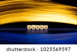 issue word on wooden cubes....   Shutterstock . vector #1025569597