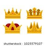 set of emperor or king shiny... | Shutterstock .eps vector #1025579107