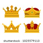 set of emperor or king shiny... | Shutterstock .eps vector #1025579113