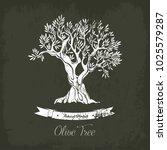 natural olive oil tree logo for ... | Shutterstock .eps vector #1025579287