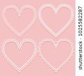 set of openwork white frames in ...   Shutterstock .eps vector #1025582287