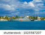 isla mujeres  mexico  january... | Shutterstock . vector #1025587207