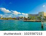 isla mujeres  mexico  january... | Shutterstock . vector #1025587213