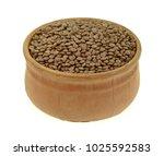 raw fresh organic lentils in a... | Shutterstock . vector #1025592583