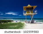 lifesaver patrol tower on the... | Shutterstock . vector #102559583