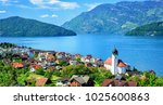 swiss lake  switzerland | Shutterstock . vector #1025600863
