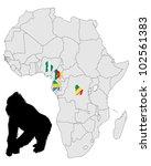 africa gorilla range | Shutterstock . vector #102561383