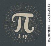 pi symbol hand drawn icon ... | Shutterstock .eps vector #1025615863