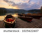 traditional wooden boats pletna ...   Shutterstock . vector #1025622607