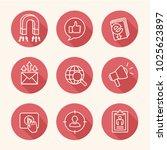 inbound marketing icon set with ... | Shutterstock .eps vector #1025623897