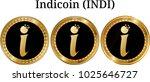 set of physical golden coin... | Shutterstock .eps vector #1025646727