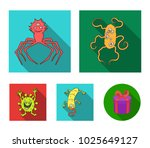 different types of microbes and ... | Shutterstock .eps vector #1025649127
