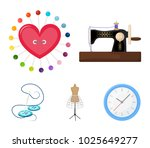 needle and thread  sewing...   Shutterstock .eps vector #1025649277