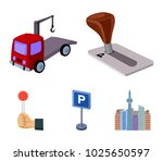 transmission handle  tow truck  ... | Shutterstock .eps vector #1025650597