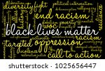 black lives matter word cloud... | Shutterstock .eps vector #1025656447