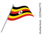 flag of uganda   uganda flag... | Shutterstock .eps vector #1025666773