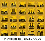 set collection of factory logo | Shutterstock .eps vector #1025677303