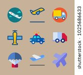 icons transport with truck ... | Shutterstock .eps vector #1025686633